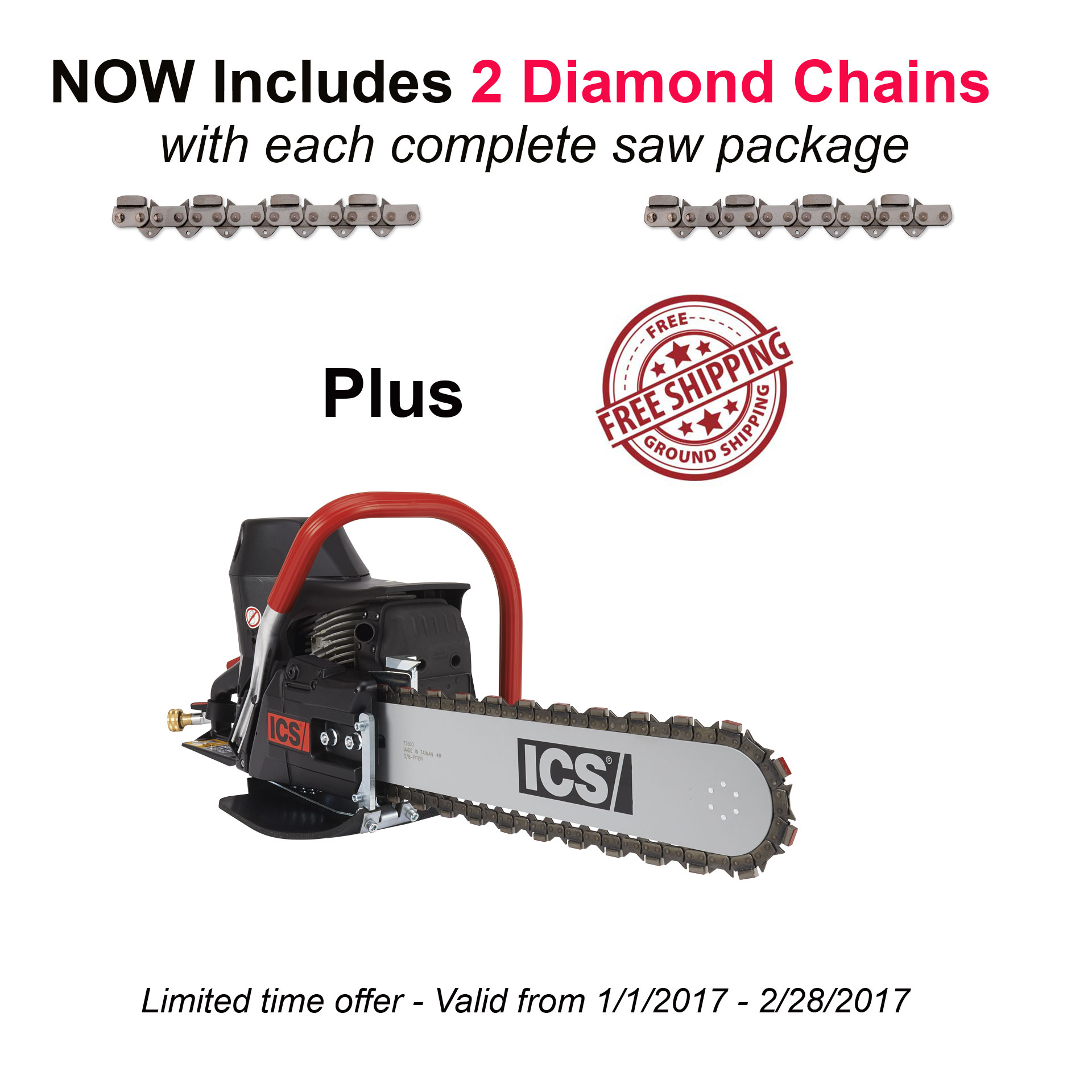 ICS 576153 680ES-14 GC Gas Saw Package w/ 14in Guidebar & TwinMax Chain