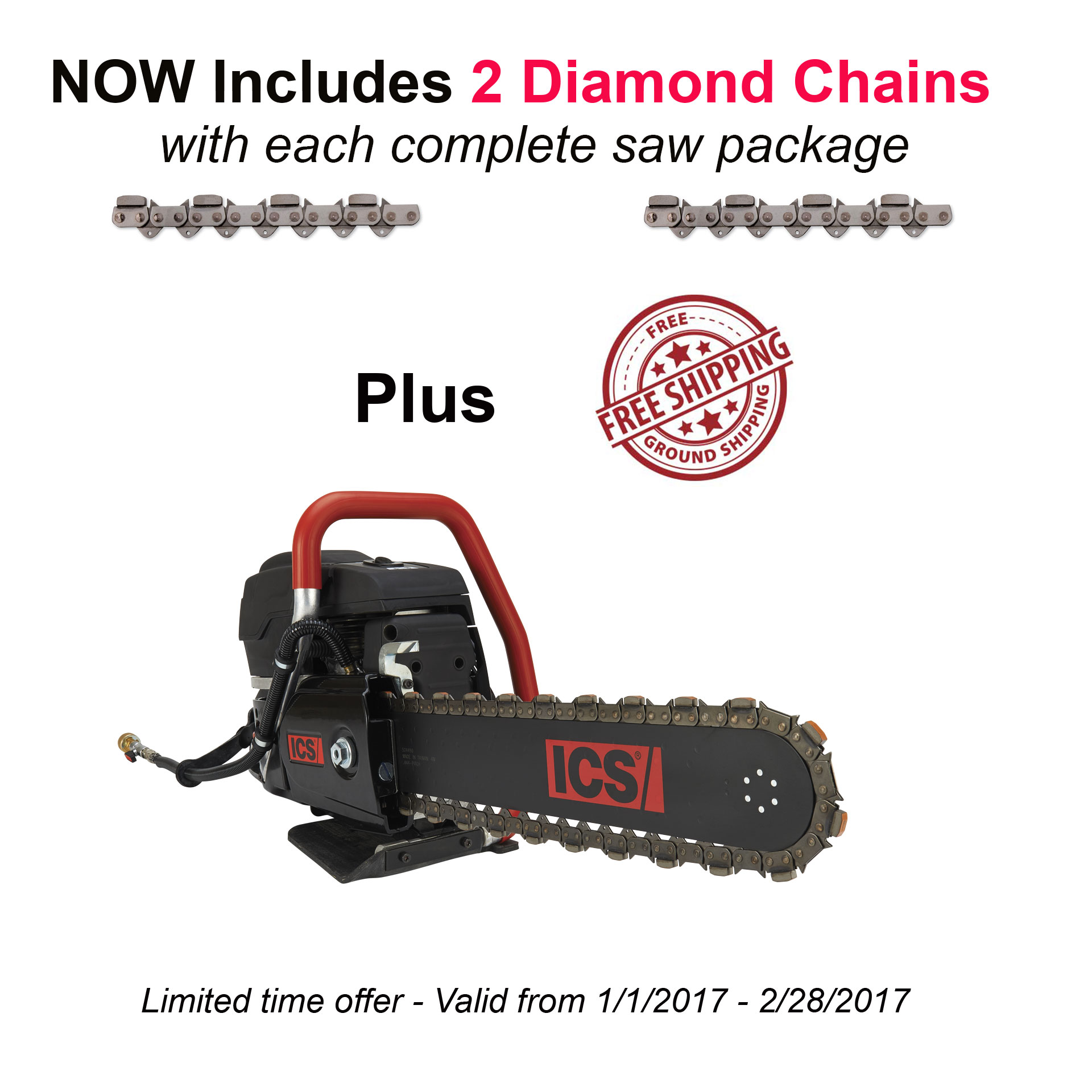 Ics 576151 695xl 12 F4 12in Concrete Chain Saw Package