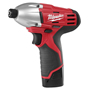 Milwaukee Electric Tools - 2450-22 - M12 1/4in Hex Impact Driver 2450-22