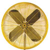 TPI - HDH24 - 24in Fan 1/2 HP - 3.5amp - 6500/8600 CFM - HD Yellow HDH24
