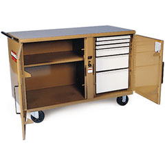 Knaack - Model 58 - STORAGEMASTER Heavy Duty Rolling Workbench - 54-1/4in x 26in x 37-3/8in 58