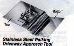CC362 Kraft Tools - 6in x 10in -  3/4in Radius - SS Walking Driveway Approach Tool CC362