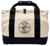 Klein - Tool Bag, Canvas with Leather Bottom, 18in.L x 6in.W x 14in.D, 11 Pockets 5003-18
