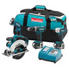 Makita - LXT405 18V LXT Cordless 4 Pc. Combo Kit BHP452, BTD141, BSS611, BML185, bag LXT405