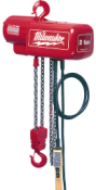 9562  Milwaukee Electric Tools 1/2 Ton Electric Chain Hoist - 20ft Lift 9562