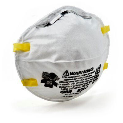 3M 8210 N95 Particulate Respirator - Dust Mask (Box of 20) MMM-70070614394