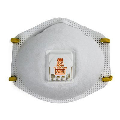 3M  8511 N95 Particulate Respirator Dust Mask (Box of 10) MMM-52974