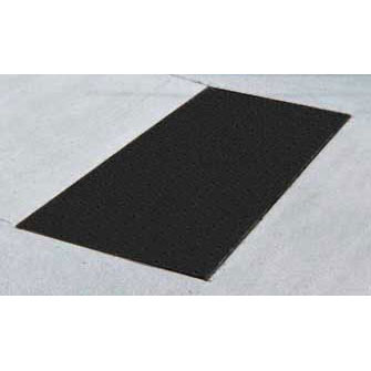 ADA Solutions 3ft. X 5ft. - Cast In Place Tactile Surface Black 3660IDPAV2-BLACK
