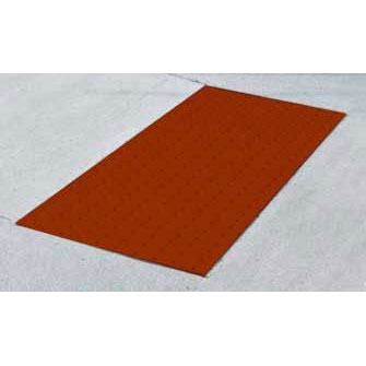 ADA Solutions 2ft. X 3ft. - Cast In Place Tactile Surface Brick-Red 2436IDPAV2-BRICK-RED