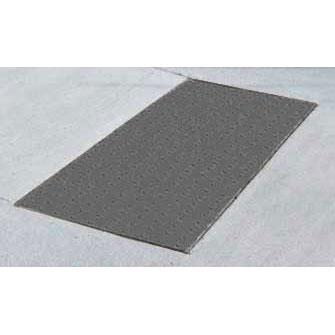 5 ft Gray ADA Warning Pad x 1 x 2 ft