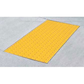 ADA Solutions 2ft. X 4ft. - Cast In Place Tactile Surface Federal-Yellow 2448IDPAV2-FEDERAL-YELLOW