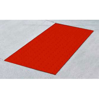 ADA Solutions 2ft. X 3ft. Surface Applied Tactile Surface Safety-Red 2436IDRET2-SAFETY-RED