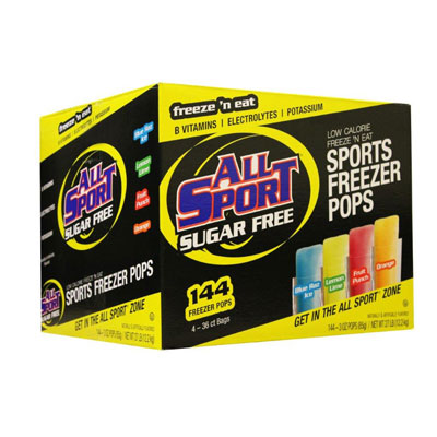 All Sport Sugar Free Freezer Pops ALL-FASFRZPOPVARSF