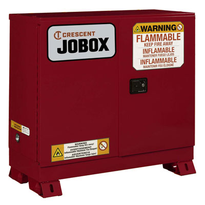 JOBOX 1-753610 30 Gallon Combustible Manual Close Safety Cabinet - Red 1-753610