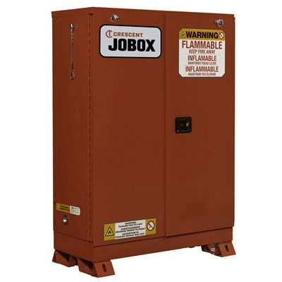 JOBOX 1-754610 30 Gallon Combustibles Self Closing Safety Cabinet - Red 1-754610
