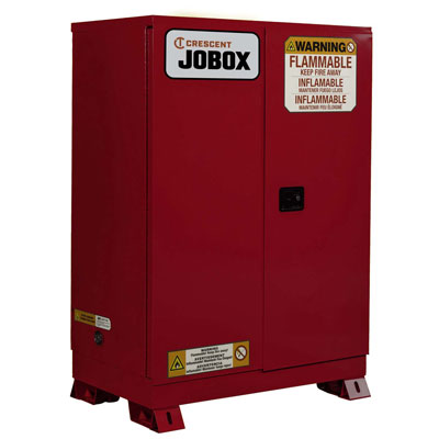 JOBOX 1-756610 45 Gallon Combustibles Manual Close Safety Cabinet - Red 1-756610