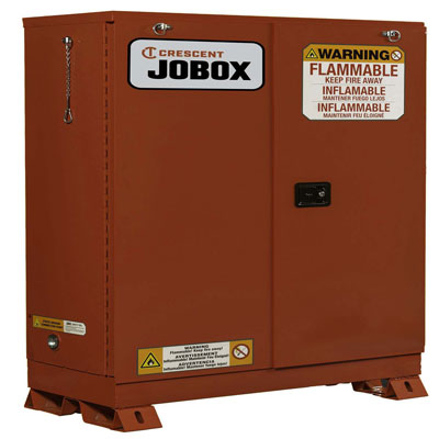 JOBOX 1-757610 45 Gallon Combustible Self Closing Safety Cabinet - Red 1-757610