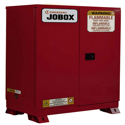 JOBOX 1-758610 60 Gallon Combustibles Manual Close Safety Cabinet - Red 1-758610
