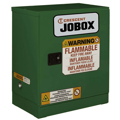 JOBOX 1-750620 12 Gallon Pesticide Manual Close Safety Cabinet - Green 1-750620