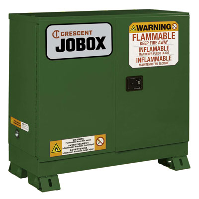 JOBOX 1-753620 30 Gallon Pesticide Manual Close Safety Cabinet - Green 1-753620