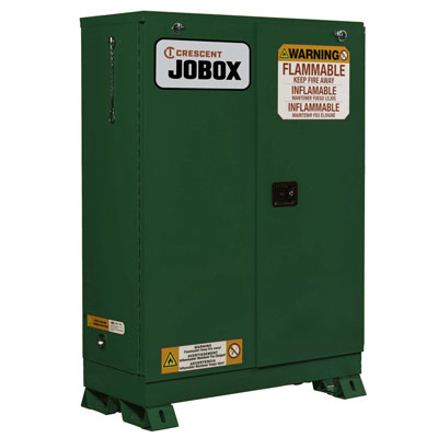 JOBOX 1-754620 30 Gallon Pesticide Self Closing Safety Cabinet - Green 1-754620