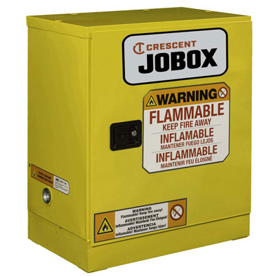 JOBOX 1-750640 12 Gallon Flammable Manual Close Safety Cabinet - Yellow 1-750640