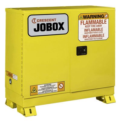 JOBOX 1-753640 30 Gallon Flammable Manual Close Safety Cabinet - Yellow 1-753640