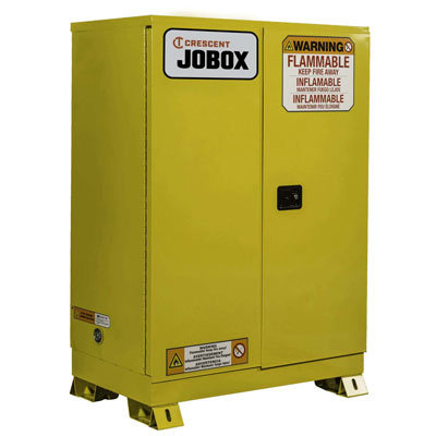 JOBOX 1-756640 45 Gallon Flammable Manual Close Safety Cabinet - Yellow 1-756640