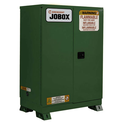 JOBOX 1-759620 90 Gallon Pesticide Manual Close Safety Cabinet - Green 1-759620