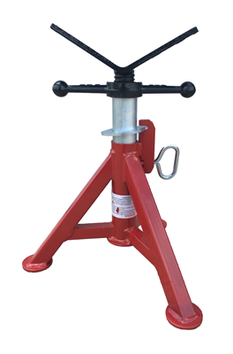 Pipe Jack Stands >> B&B Pipe Tools 4240 Super Short Fixed Leg V-head Pipe Jack - Jim & Slims Tool Supply