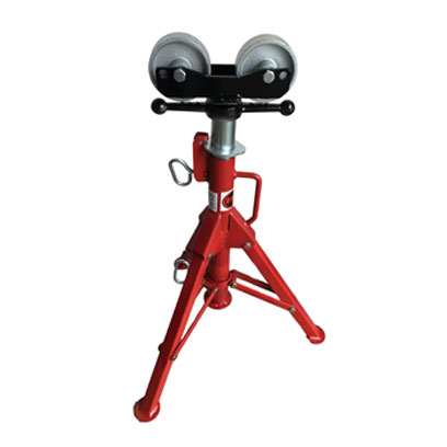 Pipe Jack Stands >> B B Pipe Tools 3905 Roller Head Folding Pipe Jack W Steel Wheels