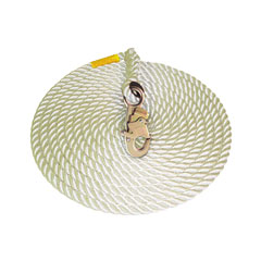 DBI Sala 1202844 - 100 ft. Polyester/Polypropylene Blend 5/8in. Dia. Rope Lifeline w/Snap Hook 1202844