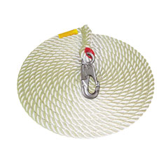 DBI Sala 1299997 - 50 ft. Polyester/Polypropylene Blend 5/8in. Dia. Rope Lifeline w/Snap Hook 1299997