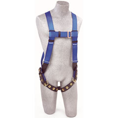 Protecta AB17550-XL - FIRST Vest-Style Harness w/Back D-ring, Tongue Buckle Leg Straps (Xtra-Large) AB17550 XL