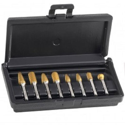 Champion BK8P-RE 8 pc. TIN Coated Carbide Bur Kit in Plastic Case BK8P-RE