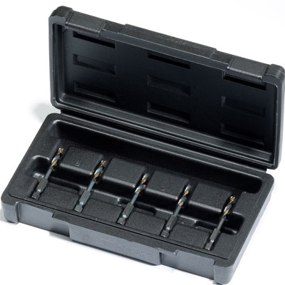 Champion DT22HEX-SET-MS5 5 Piece Drill Tap Set with Machine Screw Sizes DT22HEX-SET-MS5