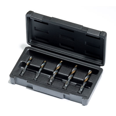 Champion DT22HEX-SET-NF5 5 Piece Drill Tap Set for 1/4 - 1/2 NF Sizes DT22HEX-SET-NF5