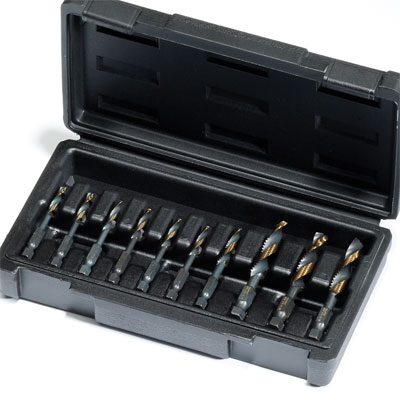 Champion DT22HEX-SET10 10 piece Drill-Tap Set with Machine & NC Sizes DT22HEX-SET10