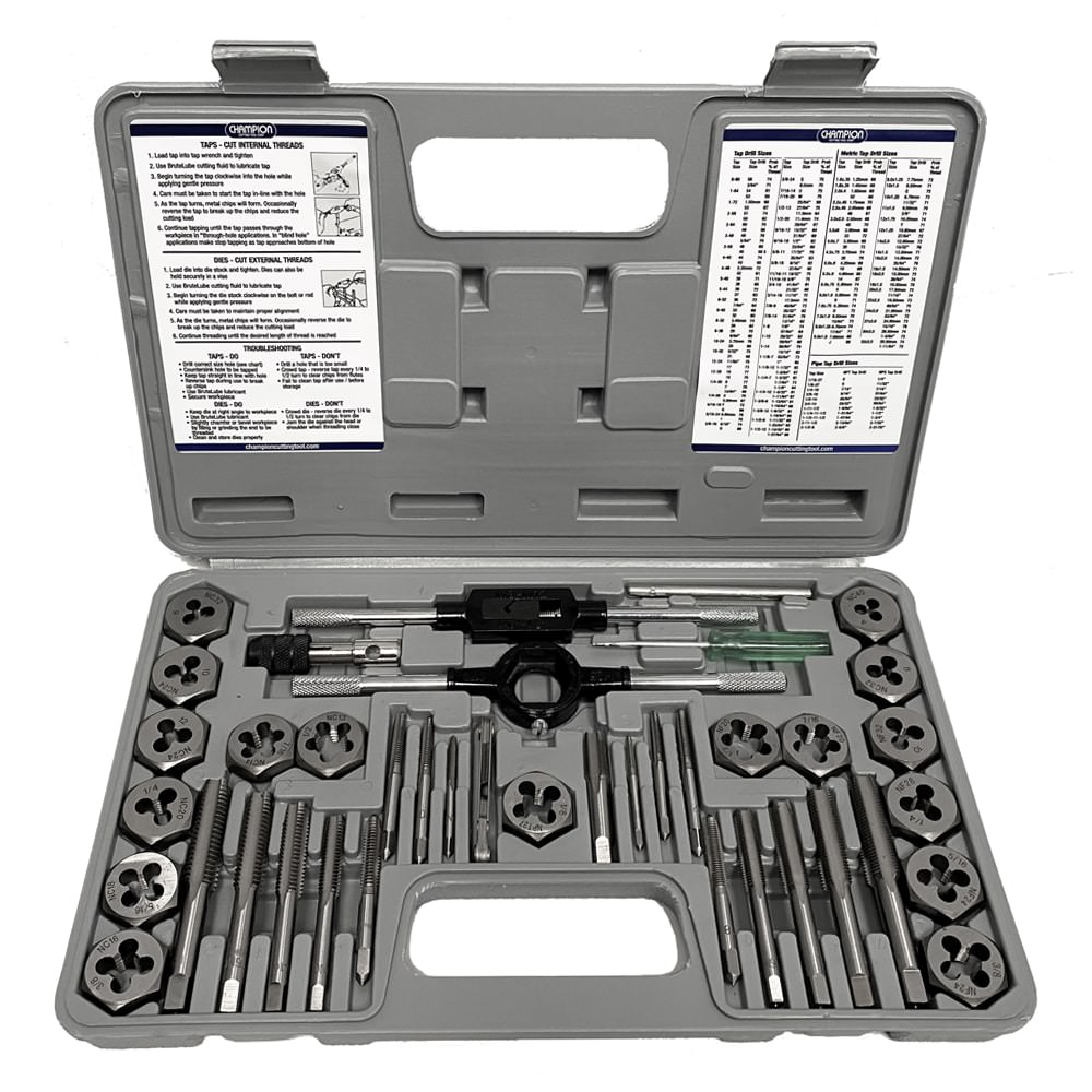 Champion CS40MP Complete 40 Piece Metric Tap & Die Set CS40MP
