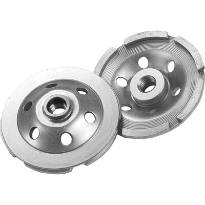 Diamond Products CGDS4000-S5D 4in. x 5/8 In., 11 Delux-Cut Single Row Diamond Cup Grinder Wheel for Concrete DIA-22405