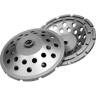 Diamond Products CGDD7000-D5D 7in. x 5/8in. Delux-Cut Double Row Diamond Cup Grinder Wheel for Concrete DIA-22418