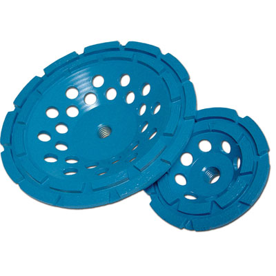 Diamond Products CGBD450078-D5B 4-1/2in x 7/8in Star Blue Double Row Diamond Cup Wheel for Concrete DIA-63119