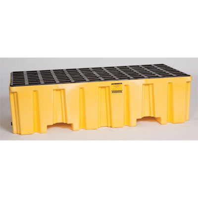 Eagle Mfg 1620 2 Drum Containment Pallet - Yellow with Drain EAG-1620