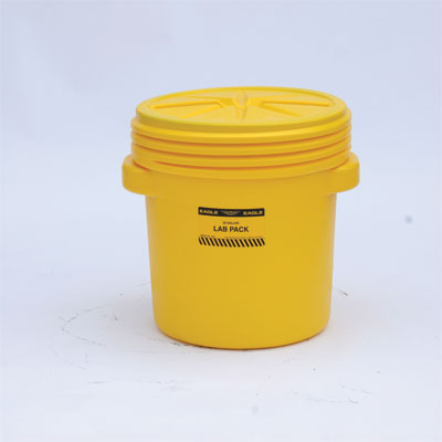 Eagle Mfg 1650 Lab Pack Poly Drum, 20 Gal. Yellow with Screw-on Lid EAG-1650
