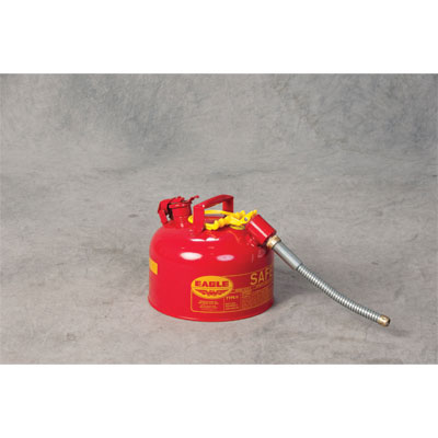 Eagle Mfg U226S Type II Safety Can, 2.5 Gal. Red with 7/8in O.D. Flex Spout EAG-U226S