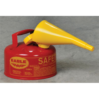 Eagle Mfg UI10FS Type I Safety Can, 1 Gal. Red with F15 Funnel EAG-U1 10FS