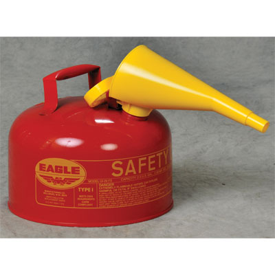 Eagle Mfg UI25FS Type I Safety Can, 2.5 Gal. Red with F15 Funnel EAG-UI 25FS