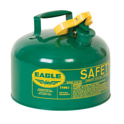 Eagle Mfg UI25SG Type I Safety Can, 2.5 Gal. Green EAG-UI25SG