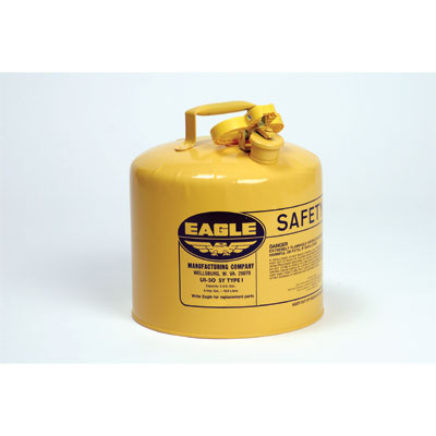 Eagle Mfg UI50SY Type I Safety Can, 5 Gal. Yellow EAG-U1 50SY