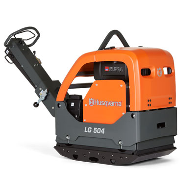 Husqvarna LG504 33.5in Reversible Plate Compactor with Hatz Diesel and Compaction Indicator 967855504